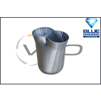 """2 x 1 3/4"""" INLET 2"""" OUTLET BLUE DIAMOND 2 INTO 1 SS COLLECTOR CONE"""