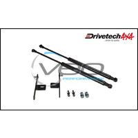 DRIVETECH 4X4 BONNET STRUT KIT FITS TOYOTA HILUX GGN25R 4.0L 4WD 2/05-3/15