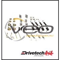 DRIVETECH 4X4 REAR BRAKE SHOE RETAINER KIT FITS TOYOTA LANDCRUISER HZJ79R 9/99-8/07