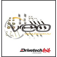 DRIVETECH 4X4 REAR BRAKE SHOE RETAINER KIT FITS TOYOTA LANDCRUISER VDJ79R V8