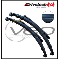 "DRIVETECH 4X4 REAR 2"" HD RAISED LEAF SPRINGS FITS TOYOTA LANDCRUISER HZJ75 8/89-7/99"