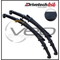 "DRIVETECH 4X4 REAR 2"" EHD RAISED LEAF SPRINGS FITS TOYOTA HILUX KUN26R 2/05-3/15"