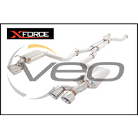 """MERCEDES BENZ C63 AMG 2008-ON XFORCE STAINLESS STEEL DUAL 3"""" CATBACK"""