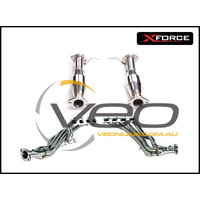 """FORD FALCON BA/BF V8 5.4L SEDAN/UTE XFORCE 304 STAINLESS STEEL HEADERS 1 5/8"""" & HIGH FLOW 3"""" CERAMIC CATS"""