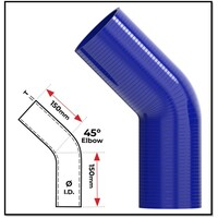 """3/4"""" (19MM) BLUE 45° SILICONE BEND (4 PLY REINFORCED 4MM THICK)"""