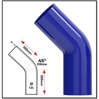 """1 1/2"""" (38MM) BLUE 45° SILICONE BEND (4 PLY REINFORCED 4MM THICK)"""