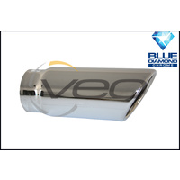 "1 3/4"" INLET 2 1/8"" OUTLET BLUE DIAMOND ANGLE CUT ROLLED IN EXHAUST TIP"