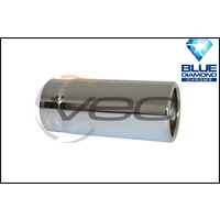 "2 1/2"" (63MM) INLET 2 3/4"" (70MM) OUTLET 8"" BLUE DIAMOND STRAIGHT CUT ROLLED IN EXHAUST TIP"