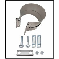 """3 1/2"""" 89MM LAP BAND STYLE CLAMP (FLEX TO TUBE)"""