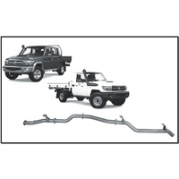 """REDBACK 3"""" SS PIPE ONLY DPF BACK EXHAUST FITS TOYOTA LANDCRUISER VDJ79R 16-ON"""