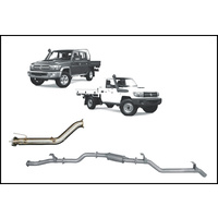 REDBACK RESONATOR EXHAUST WITH DPF DELETE FITS TOYOTA LANDCRUISER VDJ79R 2016-ON